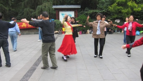 People's Park dancers, Chengdu