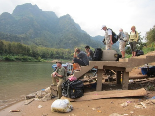 waiting for the boat to Luang Prabang