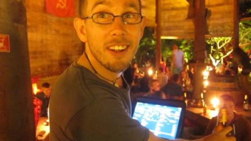 Richie DJing at Utopia