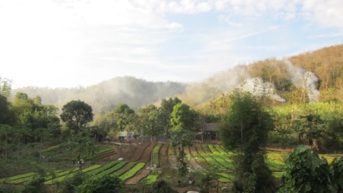 farms on the way to the waterfall