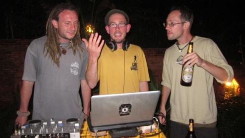 Paul, Richie and Joe - 3 Norfolk lads - reunited in Luang Prabang