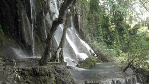 Joe exploring Kuang Si Falls