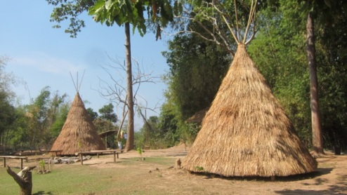 find a bamboo shack (or tepee) and settle in