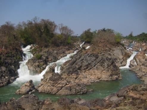 Mekong rapids, Li Phi falls, Don Khon