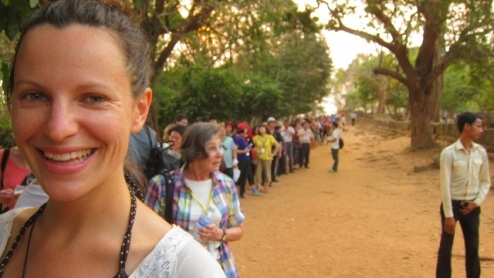 queuing for a sunset moment (shades of Vatican Museum)