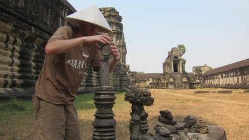 Angkor art in action