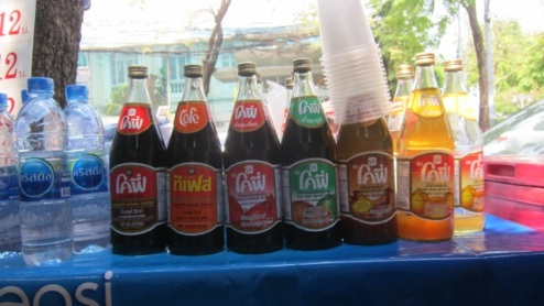 choose your poison - Thai sweet cordials served on ice